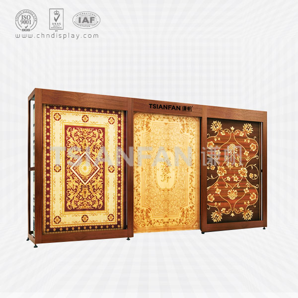 HOT NEW PRODUCTS FOR OF WOOD CARPET RACK/RUG DISPLAY RACK FOR WHOLESALE,PULL-OUT DISPLAYS-CT2005