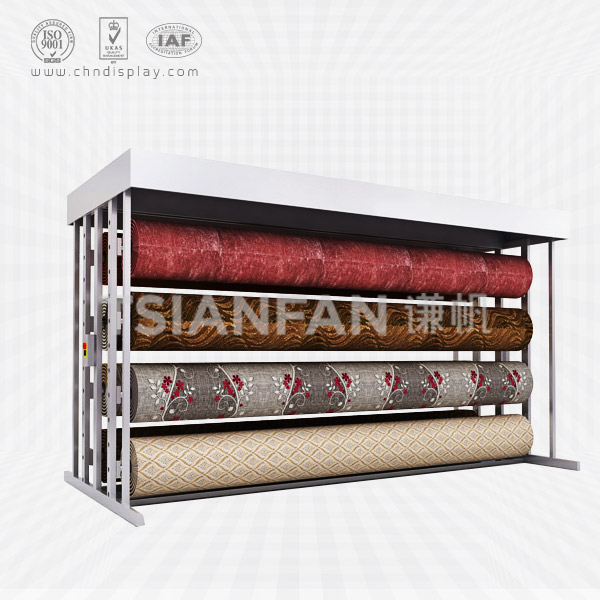 CUSTOMIZED METAL CARPET ROLLING DISPLAY RACK-CJ2010