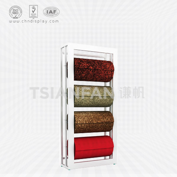 CARPET TRADE FAIR DISPLAY STAND,ROLLING CARPET RACK-CJ2007