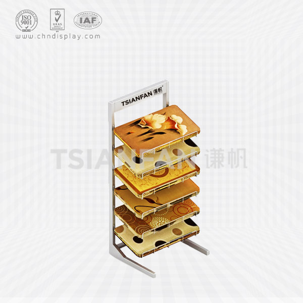 FLOOR STANDING CARPETED RACK DISPLAY,STACKABLE CARPET RACKS-CE2018