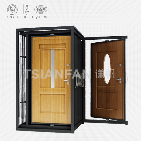 METAL FLOOR STANDING CABINET DOOR DISPLAY RACK,ROTATING STYLE-D2018