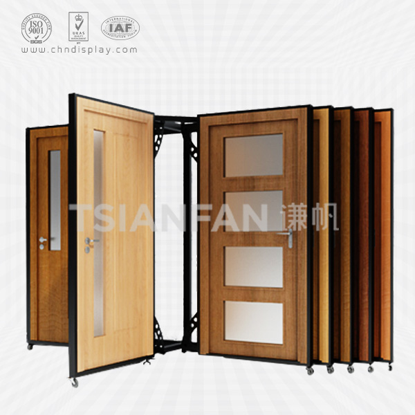MODERN STYLE WOOD DOOR DISPLAY STAND,OPEN BOOK STYLE-D2017