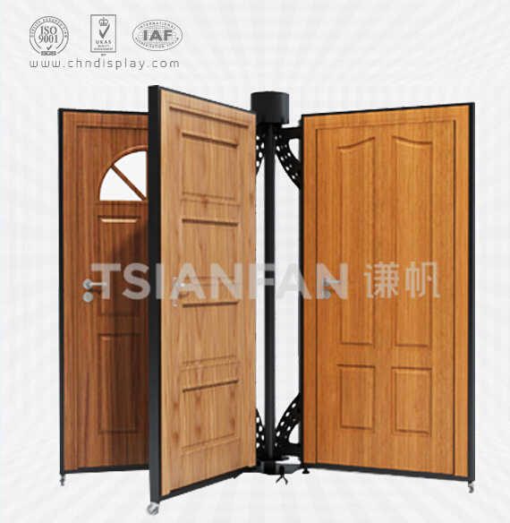 WOOD DOOR SAMPLE DISPLAY STAND,ROTATING STYLE-D2015