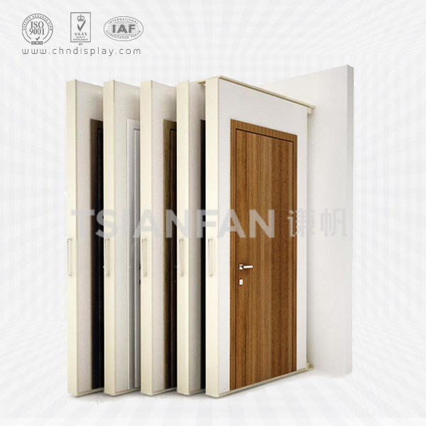 WOOD DOOR DISPLAY STAND,PUSH AND PULL STYLE-D2011