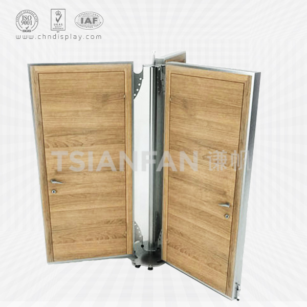 MODERN STYLE WOOD DOOR DISPLAY STAND,ROTATING STYLE-D2008