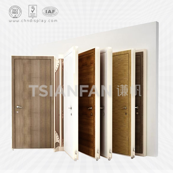 CHEAP PRICE WOOD DOOR DISPLAY STAND,OPEN BOOK STYLE-D2007