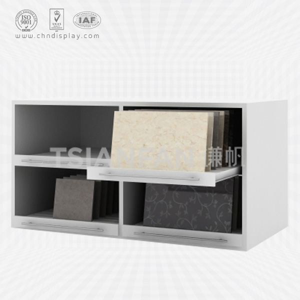 WOODEN FOUR-GRID DRAWER STYLE CERAMIC TILE DISPLAY CABINET-CC2040