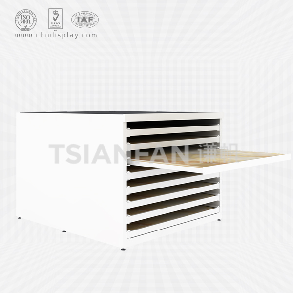 HOT WHOLESALE CERAMIC TILE CUBOID 8 FLOORS DRAWER RACK-CC2021