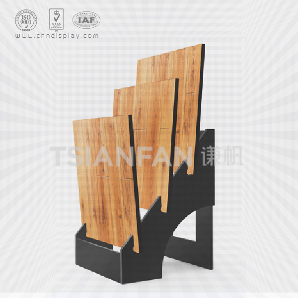 WOOD DISPLAY STAND WITH WIRE RACK FOR TILES-WC2051