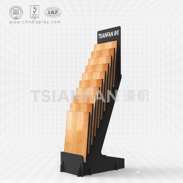 MDF FLOORING DISPLAY STAND WITH 10 SLOTS-WC2037