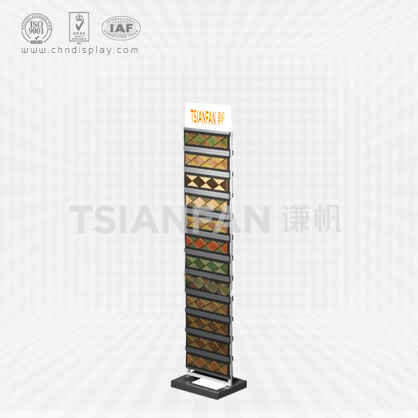 DOUBLE-SIDED FOOT LINE FLOOR DISPLAY STAND-SX2007