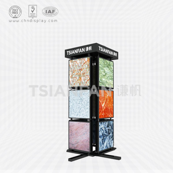 MARBLE GRANITE DAMPLES ROTATING DISPLAY STAND,COLUMN SHAPE-SG2010