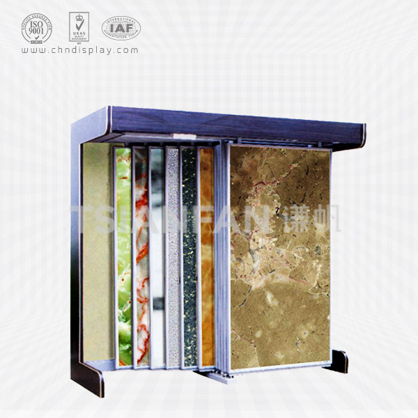 BROWN MARBLE SAMPLE SLAB DISPLAY RACK-SD2018