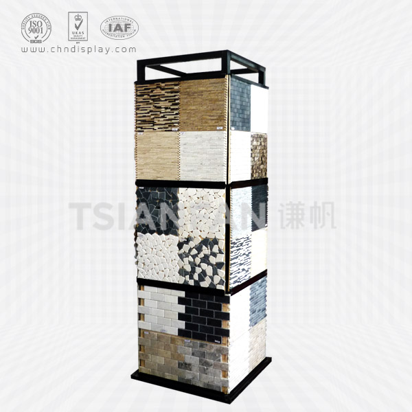 CUBE SHAPE CULTURE STONE FLOOR SAMPLE STAND-SW2010
