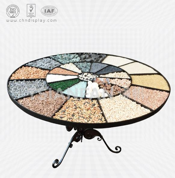 COBBLESTONE SAMPLE IRON TABLE DISPLAY STAND-SE2005
