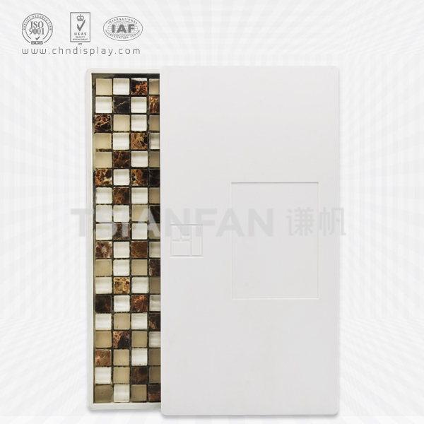 WHITE PLASTIC MOSAIC SAMPLE DISPLAY BOARD-PZ2025