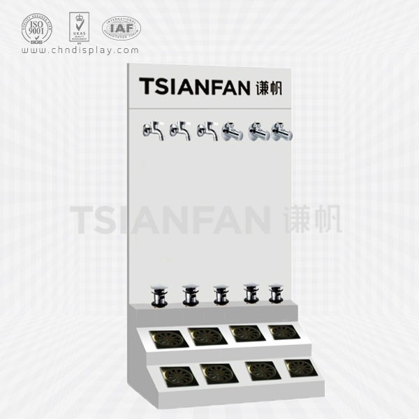 CUSTOM MADE WHITE METAL FLOOR DRAIN DISPLAY RACK DESIGN FOR FLOOR DRAIN CHINA FACTORY-FD2004