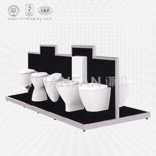CUSTOM HOME APPLIANCE RETAIL SHOP LARGE WOODEN ADVERTISING BATHROOM TOILET SANITARY WARE DISPLAY STAND-VM2011