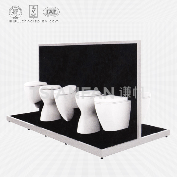 FASHION TOILET DISPLAY STAND/WOOD TOILET STAND/TOILET SHOP STAND-VM2005