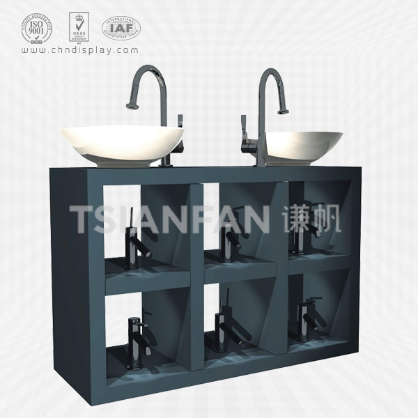 BEST DESIGN WOOD MATERIAL FAUCET DISPLAY CABINET FOR SHOP-VL2011