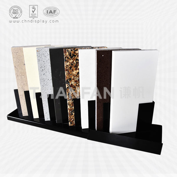 METAL QUARTZ DESKTOP DISPLAY RACK,CHIC SHAPE-SRT202