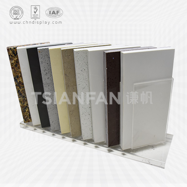 HIGH-GRADE ACRYLIC QUARTZ STONE COUNTERTOPS DISPLAY RACK-SRT2024