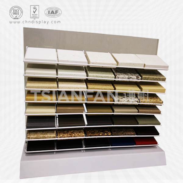 GRANITE AND QUARTZ STONE SAMPLES WIRE DISPLAY RACK-SRT039