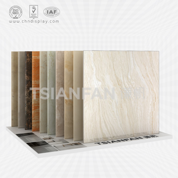 HOT SALE FLOOR OBLIQUE PLUG 10 ROWS OF SMALL TILES DISPLAY STAND E2037