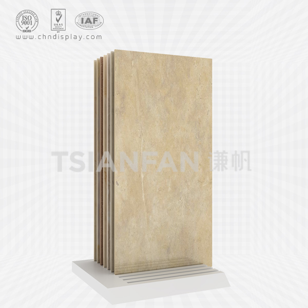 HOT SALE FLOOR MDF MATERIAL 10 ROWS OF SMALL TILES SIMPLE DISPLAY STAND E2038