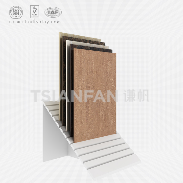 HOT WHOLESALE LANDING MDF MATERIAL TILT 12 ROW 450×900 SIMPLE TILE DISPLAY RACK E2056