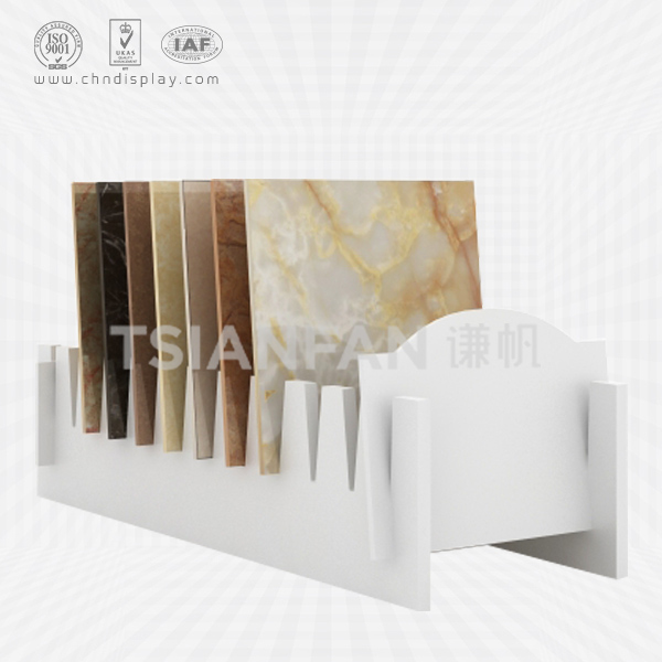 WHOLESALE FLOOR TYPE MDF MATERIAL 10 SOCKET SIMPLE TILE DISPLAY RACK E2112