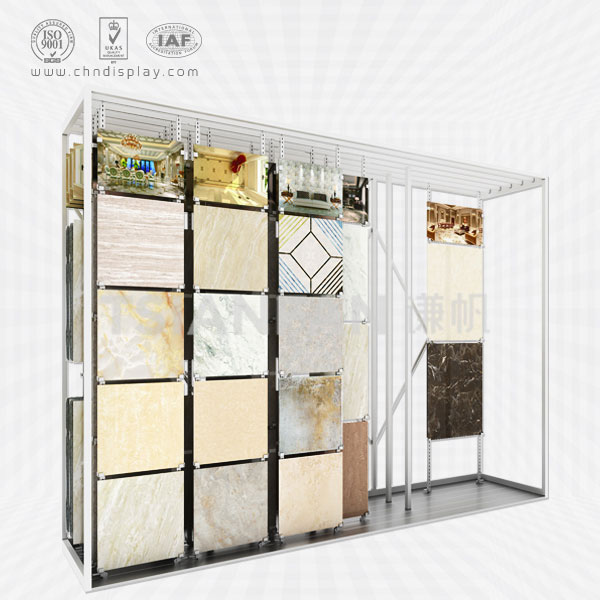 HOT SELLING TILE IRON FRAME COMPOSED OF LARGE MULTI-ROW DISPLAY CT923