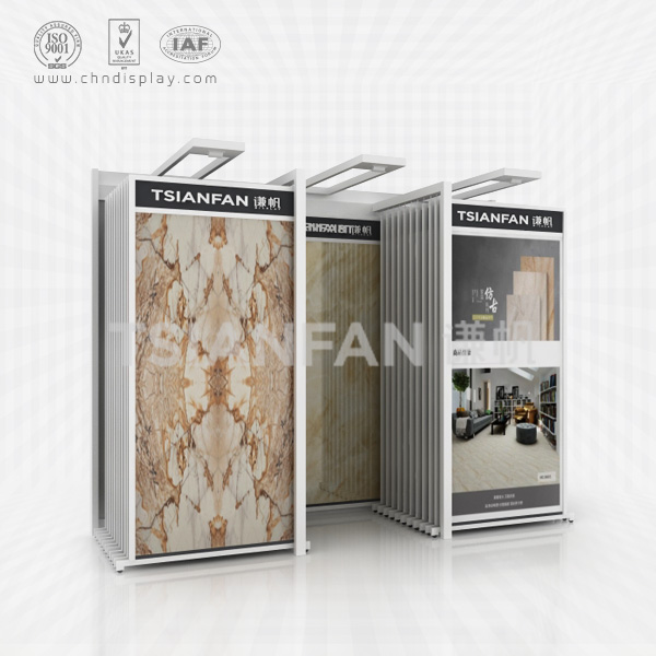 CERAMIC TILE SHOWROOM DISPLAY STAND, THERE ARE SPOTLIGHTS-CT2063