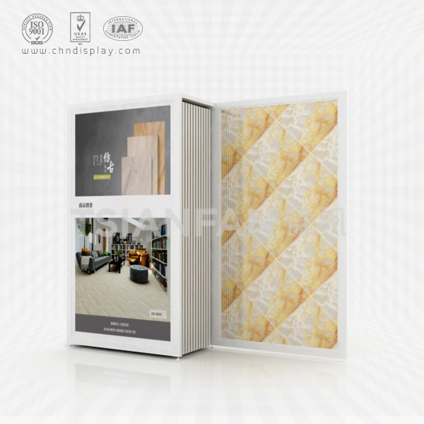 CUSTOM PULL OUT THE STYLE OF CERAMIC TILE SAMPLE DISPLAY STAND-CT2037