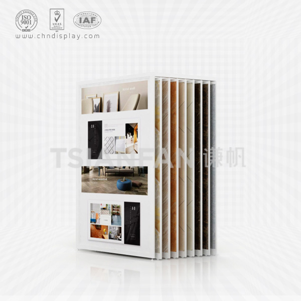 CERAMIC TILE SHOWROOM DISPLAY CABINETS,DIAGONAL PULL OUT STYLE-CT2014