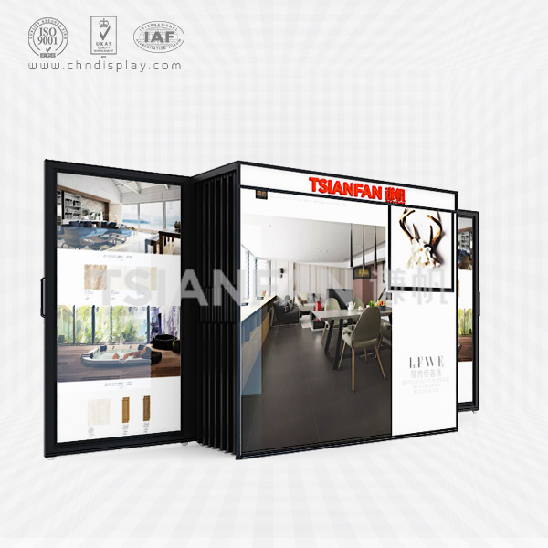 METAL TILE DISPLAY STAND,PULL-OUT DISPLAY-CT2004
