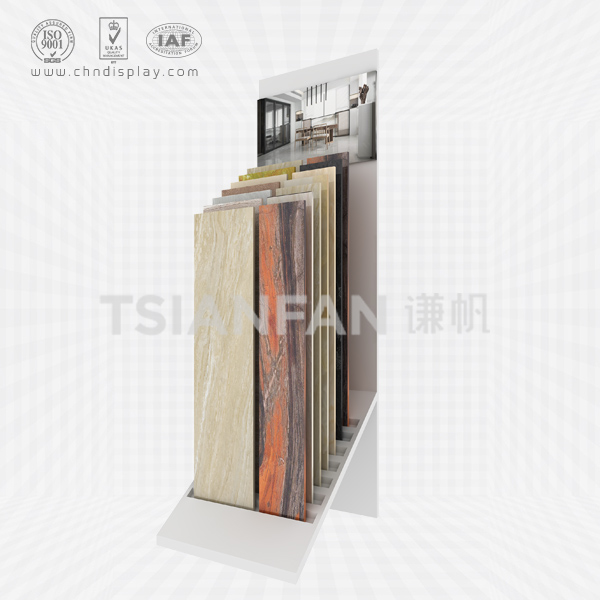 WHOLESALE TILE STEEL MATERIAL LANDING SMALL AND MEDIUM 7 HOLE PLUG-IN TYPE SIMPLE DISPLAY RACK E2130