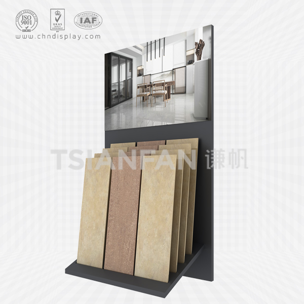 HOT SELLING TILE STEEL MATERIAL LANDING MEDIUM TYPE PLUG-IN TYPE SIMPLE DISPLAY RACK E2129