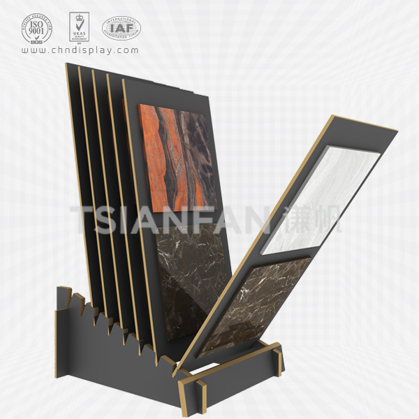 HOT SELLING TILED WOODEN FLOOR SMALL RECLINING 7 HOLE SIMPLE DISPLAY RACK E2127