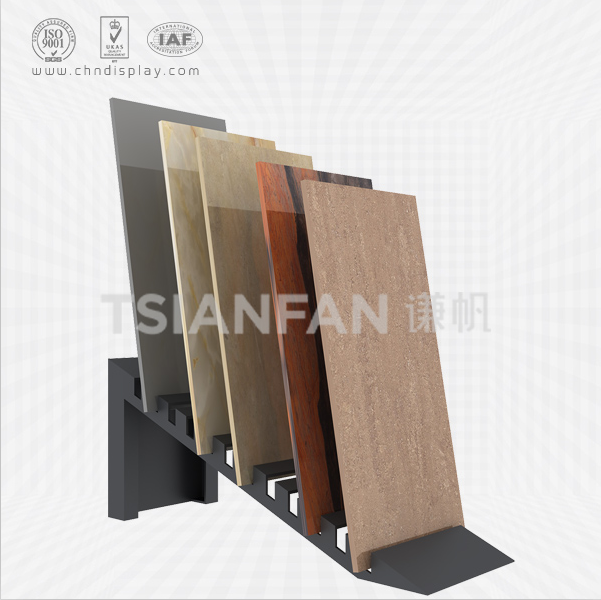HIGH QUALITY TILE FLOOR SMALL IRON HIGH-END BLACK INSERT RECLINING 12 HOLE SIMPLE DISPLAY RACK E2125