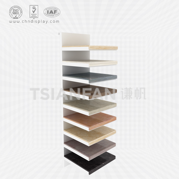 SIMPLE HAND PANEL SLOT CERAMIC TILE DISPLAY RACK-E2162
