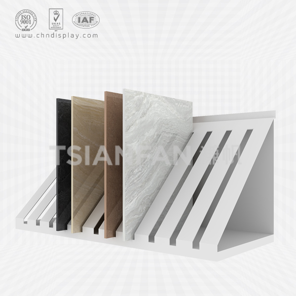 SIMPLE HAND PANEL SLOT CERAMIC TILE STONE DISPLAY-E2078