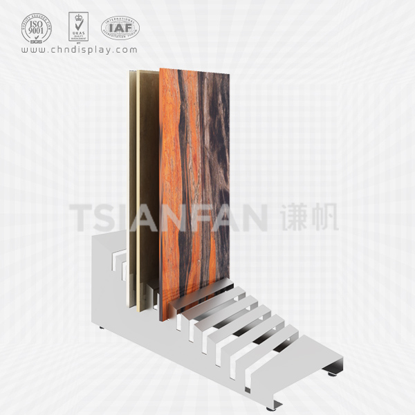 HIGH QUALITY TILE FLOOR SMALL IRON INSERT TYPE 12 HOLE SIMPLE DISPLAY RACK E2124