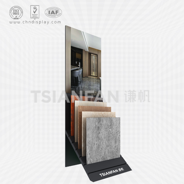 FASHIONABLE TILE LANDING SMALL SINGLE ROW POSTERS HIGH-END BLACK RECLINING SIMPLE DISPLAY RACK E2141