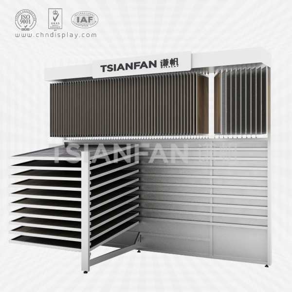 COMBINATION HORIZONTAL SIDE CERAMIC TILE DISPLAY SHELF-CX2022