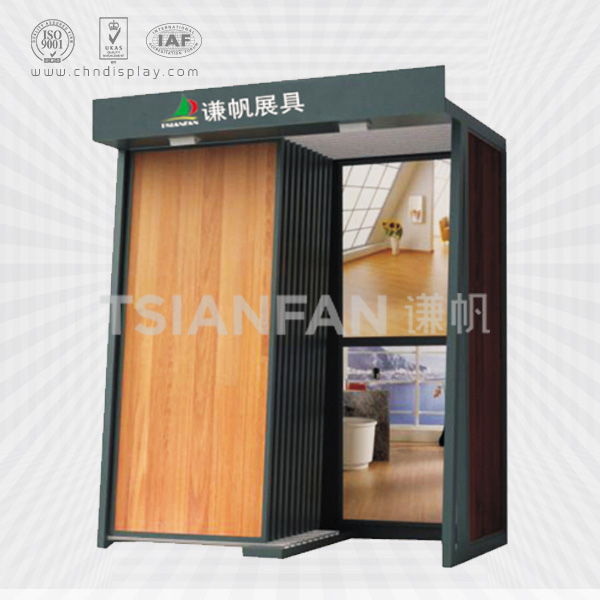 RETAIL STORE HARD WOOD DISPLAY FLOOR STAND-WT2001