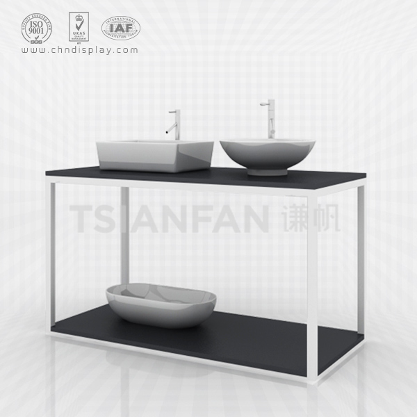FLOOR STAND METAL BATHROOM SINK WASH BASIN DISPLAY RAC-VB2014
