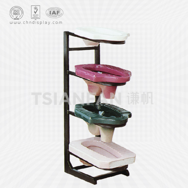 BATHROOM ACCESSORY DISPLAY STAND CERAMIC SQUAT PAN DISPALY SHELF RACK-VB2008