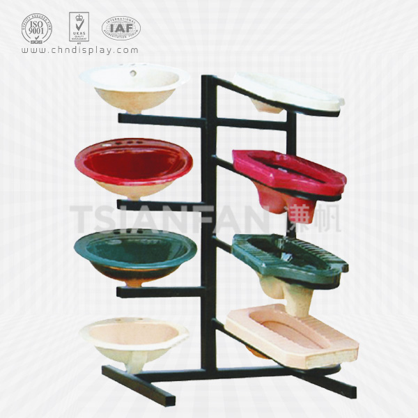 WASHROOM SANITARY WARE CERAMIC SQUAT TOILET DISPLAY RACK-VB2007
