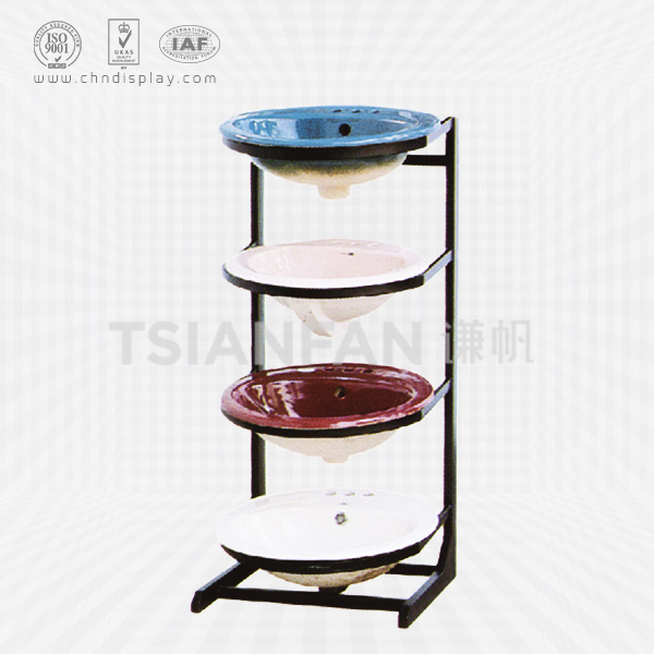 METAL SHELVING FLOORING CERAMIC WASH BASINS DISPLAY STAND-VB2004